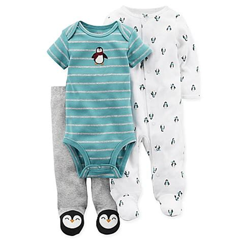 Kaos Carters Size 9 M buy s 174 size 9m 3 penguin footie bodysuit and pant set in blue from bed bath beyond
