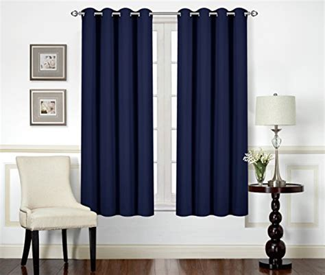 blackout curtains room curtains blackout room darkening grommet window panel drapes 2 panel set 52x63 quot ebay