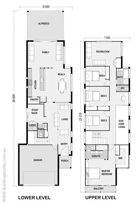 narrow home floor plans best 25 narrow lot house plans ideas on