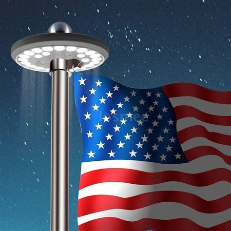 Flag Pole Light Led Solar Powered Automatic Night Super Solar Powered Flag Lights