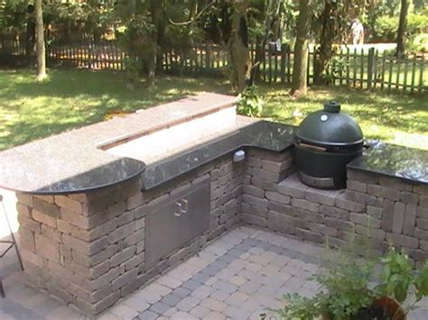 outdoor kitchen with green egg big green egg outdoor kitchen back yard