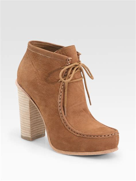 dolce vita lace up leather ankle boots in brown