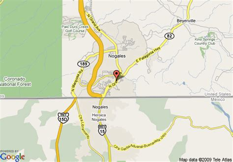 where is nogales arizona on a map map of best western siesta motel nogales