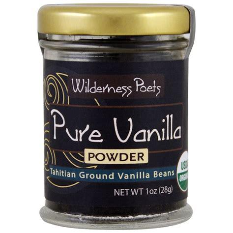 Cap Vanilla 1oz wilderness poets vanilla powder tahitian ground vanilla beans 1 oz 28 g iherb