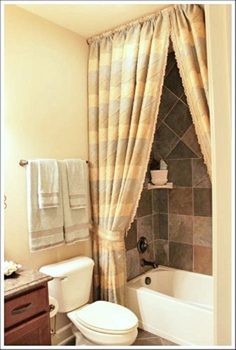 bathroom with shower curtains ideas the importance of the shower curtains and a beautiful homey bathroom interior design