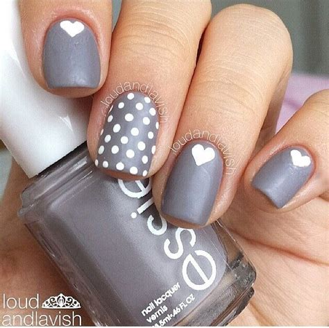 art design nail polish gray matters of the heart nails nail design nail art