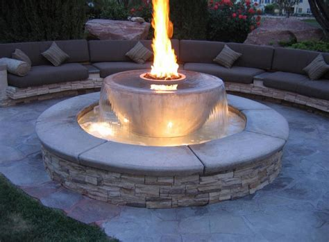 Gas Outdoor Firepit Gas Pit Ideas For Comfortable Backyard Sitting Area Home Furniture