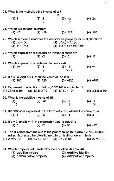 Worksheets For High School by Free High School Math Worksheets Order Of Operations