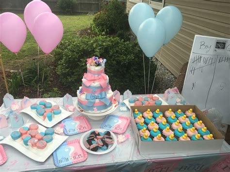 Walmart Baby Shower Cupcakes by Affordable Gender Reveal Walmart Decorations And