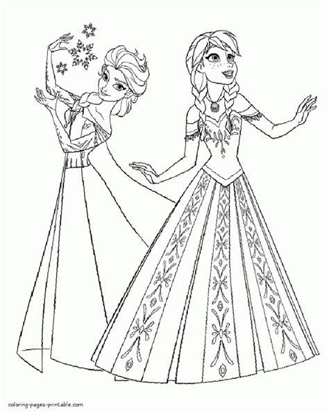 elsa and anna coloring book pages frozen elsa and anna coloring pages aecost net aecost net