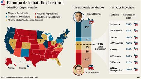 elecciones usa 2012 mapa elecciones ee uu 2012 estados clave abc es