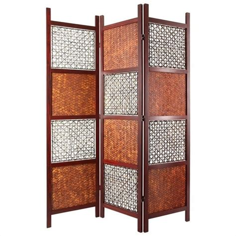 Oriental Furniture 6 Tall Room Divider In Brown Ssbamleaf Room Divider Furniture