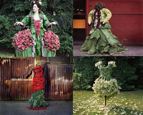 What Are Weedrobes by Dresses Made Of Fruit Weeds Flowers And Leaves