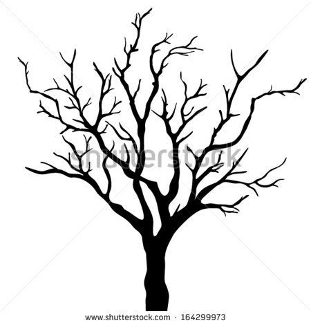 bare tree template simple leafless tree outline www pixshark images