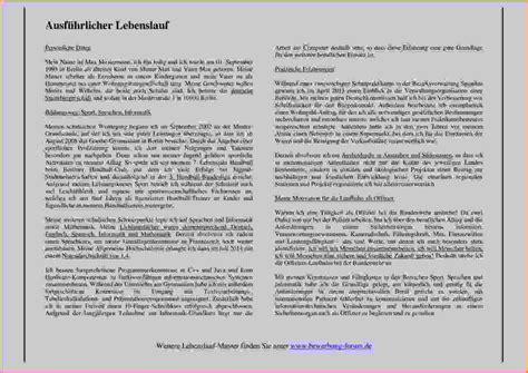 Ausfuhrlicher Lebenslauf Englisch Muster 7 Ausf 252 Hrlicher Lebenslauf Muster Questionnaire Templated