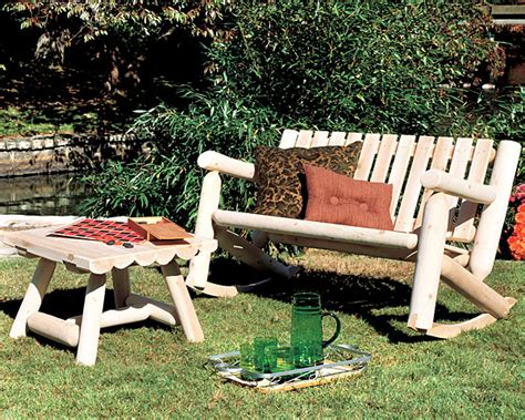 Log Patio Furniture by Rustic Furniture Cedar Log Outdoor Patio Rocker