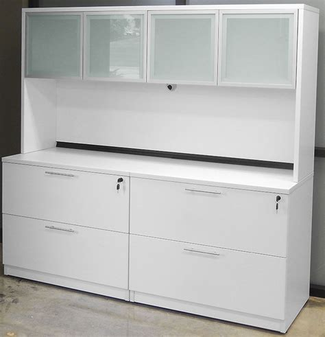white credenza white adjustable height u shaped executive office desk w hutch