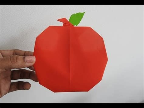 origami apple how to make an origami apple easily fruit paper craft
