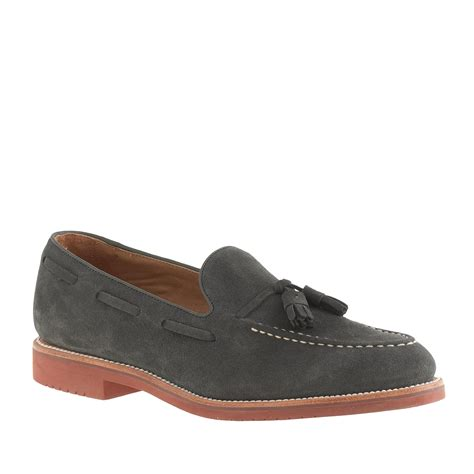 suede tassel loafers for j crew kenton suede tassel loafers in gray for