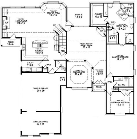 5 Bedroom 3 Bathroom House by 654265 4 Bedroom 3 5 Bath House Plan House Plans