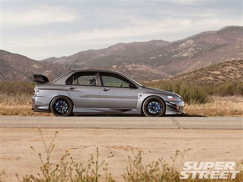mitsubishi evolution 2006 2006 mitsubishi lancer evolution ix mr super street magazine