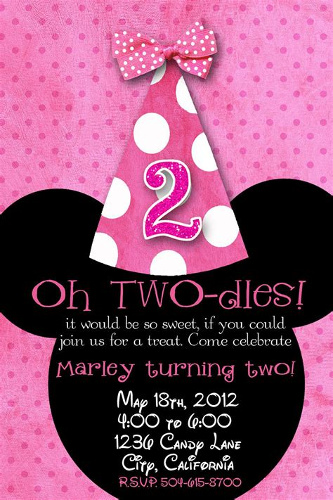 2nd Birthday Invitations On Pinterest 2nd Birthday Invitations Templates Free