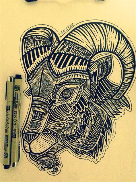 goat tattoo design by bastizz on deviantart