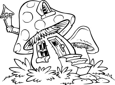 free printable mushroom coloring pages download free