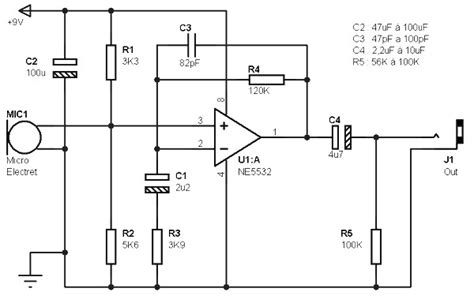 electret microphone lifier circuit also electret microphone lifier electret microphone schematic positive get free image