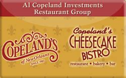 buy copeland s cheesecake bistro gift cards raise - Copeland S Gift Card Balance