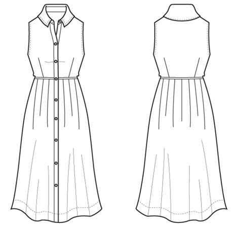 dress design and flat pattern making flat sketch flat sketch pinterest sketches fashion