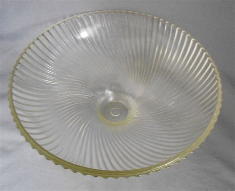 1950s vintage holophane swirled ribbed glass ceiling light cover shade in home d 201 cor