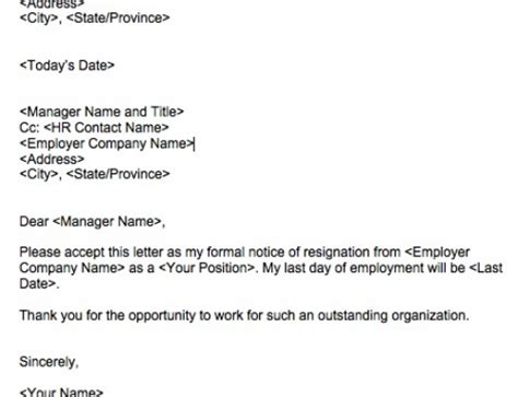 rules  writing  classy resignation letter squawkfox
