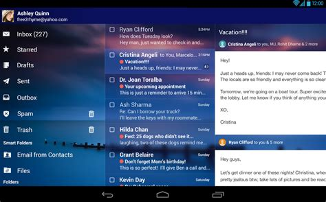 screenshot apps for android tablets yahoo s new mail app is like a swiss army knife for android
