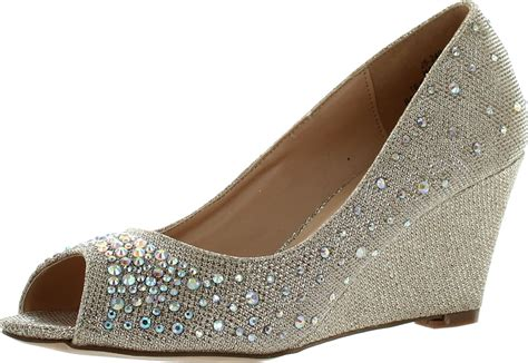 blossom womens half 3 dressy wedge shoes ebay