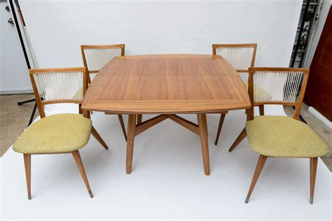 keal for brown saltman dining table and chairs at 1stdibs