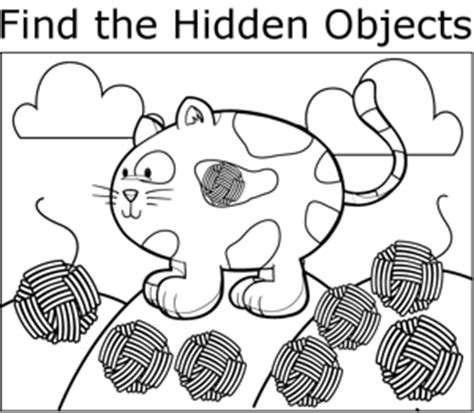 cat  yarn coloring page