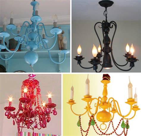 How To Paint A Chandelier Glassy Brassy Light Be