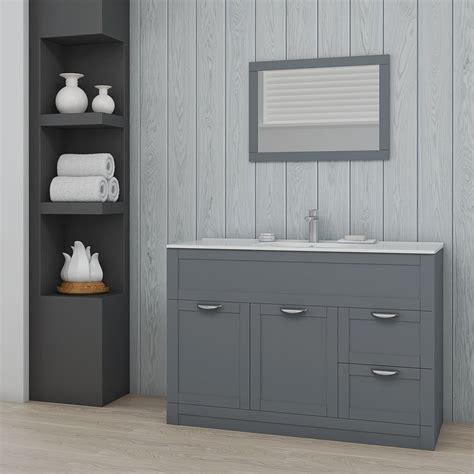 Combination Bathroom Furniture Nottingham 1000 Grey Combination Unit With Back To Wall Toilet