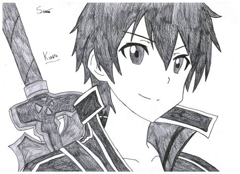 design art online kirito sword art online by stades drawing on deviantart