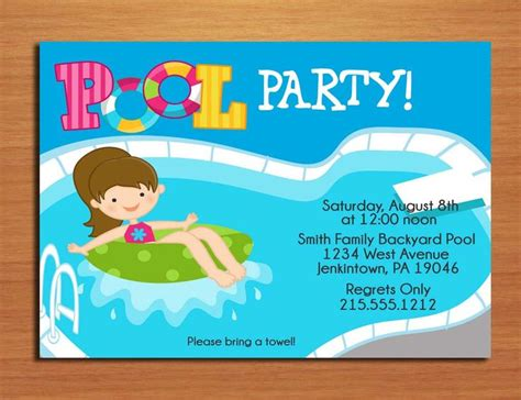 librate de la codependencia 847808634x free printable birthday pool party invitations templates invitetown kenzies party