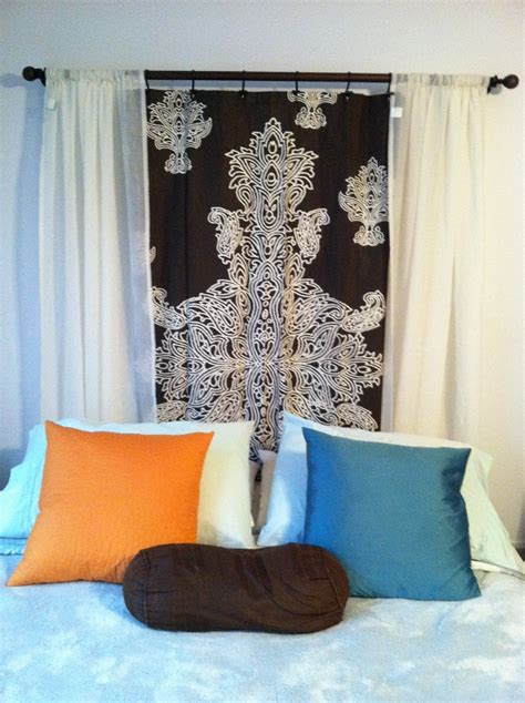curtains for headboard 17 best ideas about shower curtain headboard on pinterest