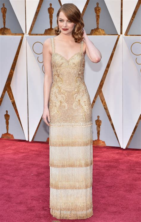 emma stone oscar emma stone s oscar dress took 11 people and 1 700 to create