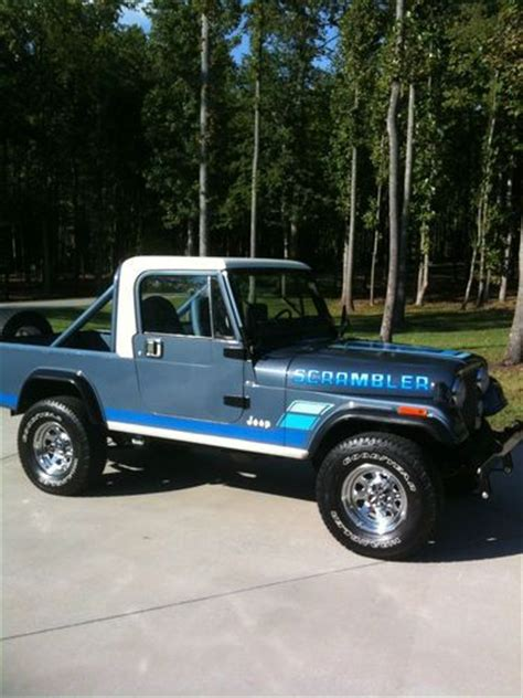 jeep scrambler blue purchase used 1983 jeep scrambler cj8 factory a c all