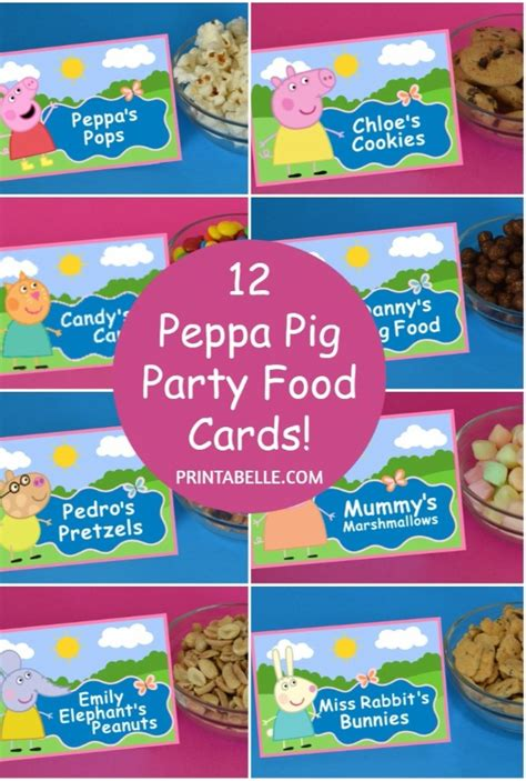 printable peppa pig party decorations peppa pig party food cards free printable sign