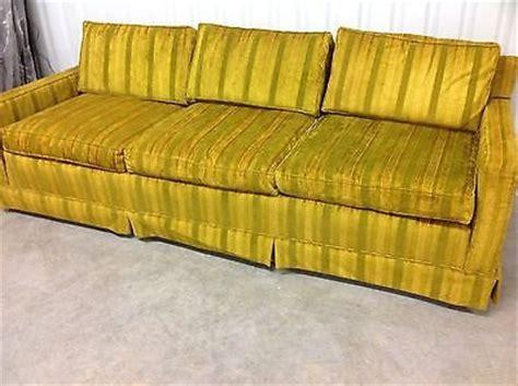 gold striped sofa vintage mid century retro modern gold couch sofa striped