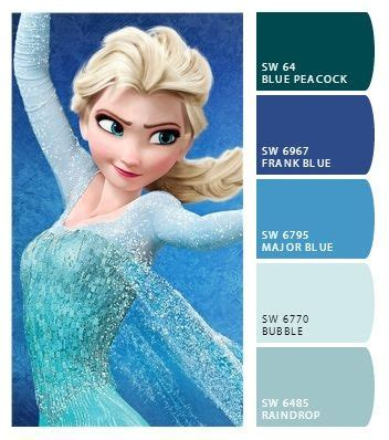 frozen elsa color palette frozen