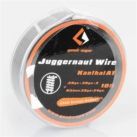 Khantal A1 24ga 15ft By Geekvape authentic geekvape kanthal a1 juggernaut 3m heating resistance wire