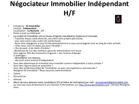 Lettre De Motivation De Negociateur Immobilier Exemple De Lettre De Motivation Negociateur Immobilier