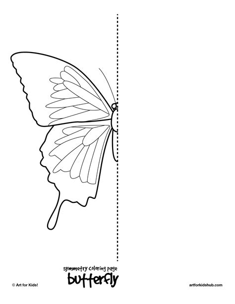 10 Free Coloring Pages Bug Symmetry Art For Kids Hub Symmetry Coloring Pages